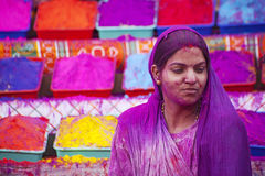 JAIPUR, INDIA - MARCH 17: People covered in paint on Holi festiv Stock Image