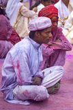 JAIPUR, INDIA - MARCH 17: People covered in paint on Holi festiv Royalty Free Stock Photography