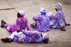 JAIPUR, INDIA - MARCH 17: People covered in paint on Holi festiv Stock Photography