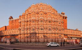 JAIPUR, INDIA - 18 NOV 2012: Facade of Hawa Mahal - Palace of Wi Royalty Free Stock Image