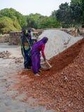 Jaipur, India, scene quotidiane della gente locale fotografia stock