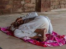 Jaipur, India, scene quotidiane della gente locale fotografie stock libere da diritti