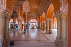 JAIPUR, INDIA - SEPTEMBER 19, 2017: Chandra Mahal museum, City Palace at Pink City, Jaipur, Rajasthan, India Stock Image