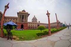 Jaipur, India - September 26, 2017: Rashtrapati Bhavan is the official home of the President of India. Fish eye effect stock images
