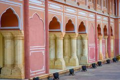 JAIPUR INDIA, WRZESIEŃ, - 19, 2017: Chandry Mahal muzeum, miasto pałac przy Różowym miastem, Jaipur, Rajasthan, India Obrazy Stock