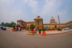 Jaipur India, Wrzesień, - 26, 2017: Piękny rządowy budynek Rashtrapati Bhavan jest oficjalnym domem Obraz Stock