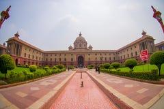 Jaipur India, Wrzesień, - 26, 2017: Minister obrona Rashtrapati Bhavan jest oficjalnym domem prezydent Zdjęcia Stock