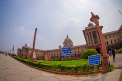 Jaipur India, Wrzesień, - 26, 2017: Minister obrona Rashtrapati Bhavan jest oficjalnym domem prezydent Obraz Stock