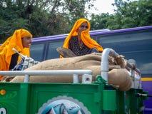Jaipur Indien, dagliga platser av lokalt folk royaltyfria foton
