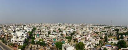 Jaipur Indien - September 20, 2017: Härlig flyg- sikt av gamla byggnader som lokaliseras i staden av det Jaipur tillståndet, i In Arkivfoton