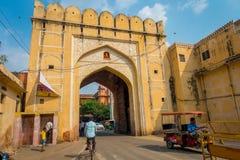 JAIPUR, INDIEN - 19. SEPTEMBER 2017: Stadt-Palast, ein Palastkomplex in Jaipur, Rajasthan, Indien Es war der Sitz von Stockbild