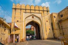 JAIPUR, INDIEN - 19. SEPTEMBER 2017: Stadt-Palast, ein Palastkomplex in Jaipur, Rajasthan, Indien Es war der Sitz von Lizenzfreie Stockbilder