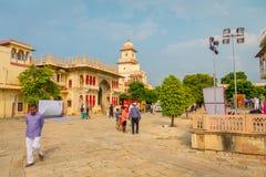 JAIPUR, INDIEN - 19. SEPTEMBER 2017: Stadt-Palast, ein Palastkomplex in Jaipur, Rajasthan, Indien Es war der Sitz von Stockfotos