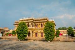 JAIPUR, INDIEN - 19. SEPTEMBER 2017: Stadt-Palast, ein Palastkomplex in Jaipur, Rajasthan, Indien Es war der Sitz von Lizenzfreie Stockfotografie