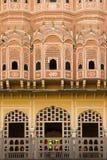 Jaipur, interior view of Hawa Mahal Stock Images