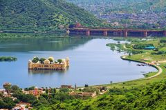 Jaipur Jal odgórny Widok Mahal Obrazy Stock