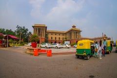 Jaipur, la India - 26 de septiembre de 2017: El edificio hermoso del gobierno de Rashtrapati Bhavan es el hogar oficial del foto de archivo