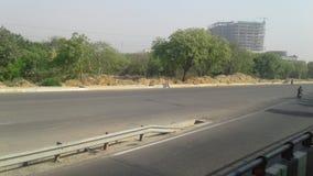 Jaipur-Landstraße Stockfotos