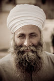 Jaipur-Mann in einem Turban Stockfotografie