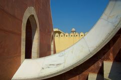 Jaipur Observatory Sundial Royalty Free Stock Photos