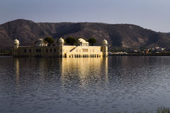 Jaipur, palace in the lake Stock Image