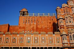 Jaipur Rajastan  india. Hawa Mahal palace (Palace of the Winds), Jaipur, Rajasthan Stock Photography