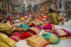 JAIPUR, Rajasthan, India – DEC, 2016: Sari Shop. Indian Tradit Stock Photo