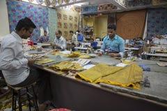 JAIPUR, Rajasthan, India †'DEC, 2016: Krawczyny przy pracą w India Fotografia Stock