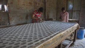 JAIPUR, Rajasthan, India †'DEC, 2016: Blokowy druk dla Texti Obraz Stock