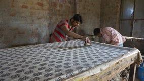 JAIPUR, Rajasthan, India †'DEC, 2016: Blokowy druk dla Texti Obrazy Stock