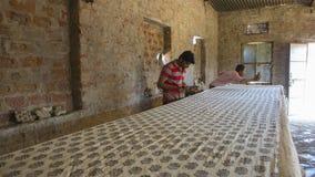 JAIPUR, Rajasthan, India †'DEC, 2016: Blokowy druk dla Texti Zdjęcia Stock