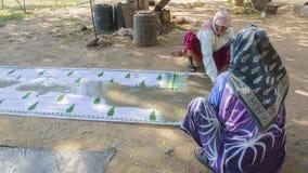 JAIPUR, Rajasthan, India †'DEC, 2016: Tekstylny barwiarstwo z natu Zdjęcia Royalty Free