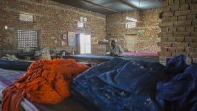 JAIPUR, Rajasthan, India †'DEC, 2016: Tekstylny barwiarstwo z natu Obrazy Royalty Free