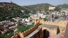 Jaipur Rajsthan ein veiw von Amber Palace stockfotografie