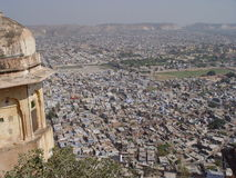 Jaipur from roofs of Tiger fort Stock Photography