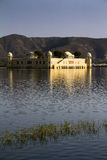 Jaipur, royal palace in the lake Royalty Free Stock Photo