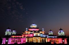 Jaipur`s Albert Hall Museum at Night royalty free stock images
