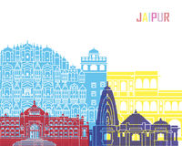Jaipur skyline pop. In editable vector file Stock Photo