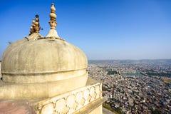 Jaipur stadssikt från det Nahargarh fortet Royaltyfri Fotografi