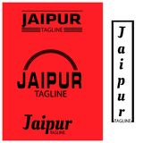 Jaipur typography set, flat designs. EPS file available. see more images related vector illustration