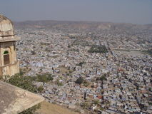 Jaipur von den Dächern des Tigerforts Stockfotos