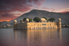 Jaipur. Water Palace in the middle of the lake Royalty Free Stock Photo