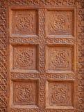 Jaisalmer印度 在传统老大厦的墙壁上的装饰  免版税库存照片
