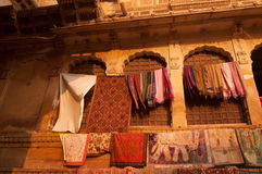 Jaisalmer堡垒义卖市场 免版税库存图片