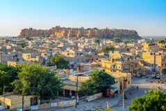 Jaisalmer堡垒在拉贾斯坦,印度 图库摄影