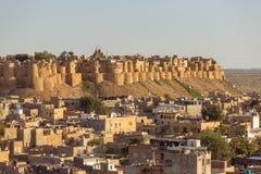 Jaisalmer堡垒在拉贾斯坦 免版税库存图片