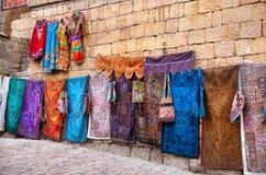 Jaisalmer堡垒街市  免版税库存图片