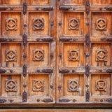 Jaisalmer,印度 重的木老城堡门 免版税库存图片