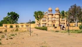 Jaisalmer,拉贾斯坦宫殿的外在看法, 库存照片