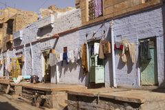 jaisalmer οδός σκηνής στοκ εικόνα με δικαίωμα ελεύθερης χρήσης